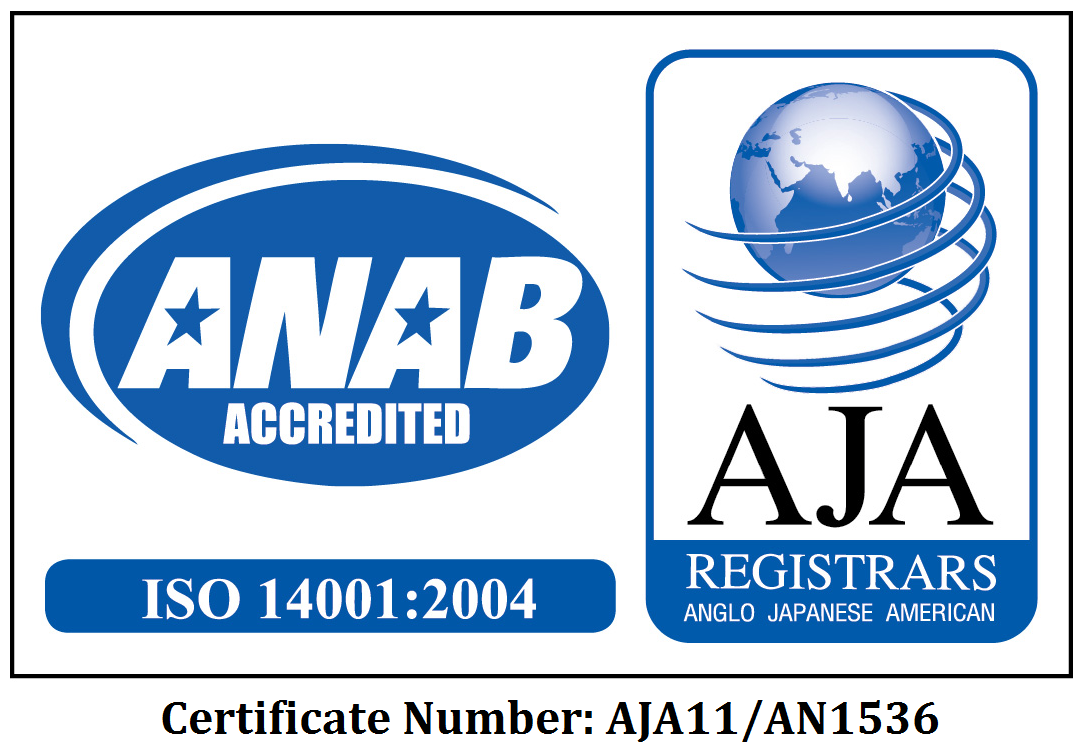 Bio-Tech Environmental ISO 14001 Certificate